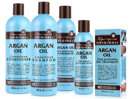 scottish hair products renpure argan oil shoo and conditioner