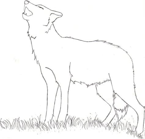 sketch drawings of wolves howling to the moon coloring pages