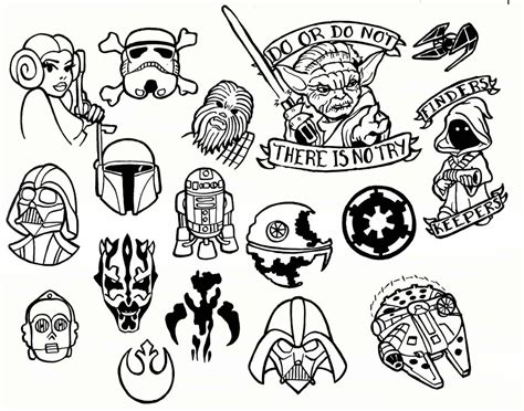 simple tattoo flash as reasonable as can be expected star wars shrinky dink
