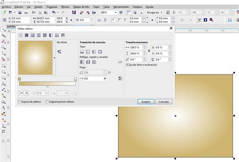 corel draw x7 gradient gradient fill is stuck on a pink gold preset how can i