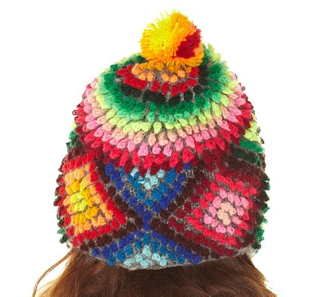 colorful hats peruvian chullo pompom hat ski cap colorful handmade