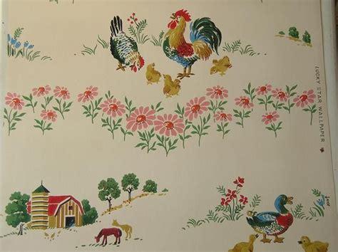 vintage wallpaper for a 50s kitchen vintage retro