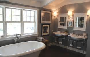 brown and gray bathroom dark brown paneled tub design decor photos pictures
