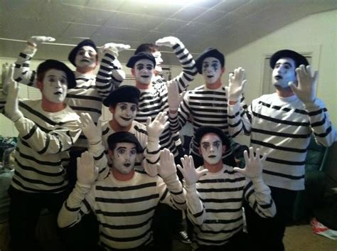mime inspiration group halloween costumes  group