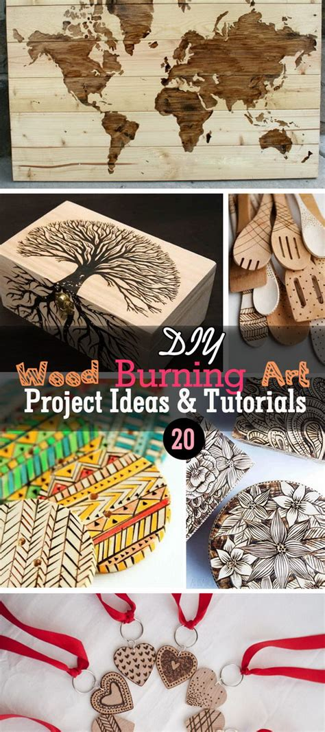 diy wood burning art project ideas tutorials noted list