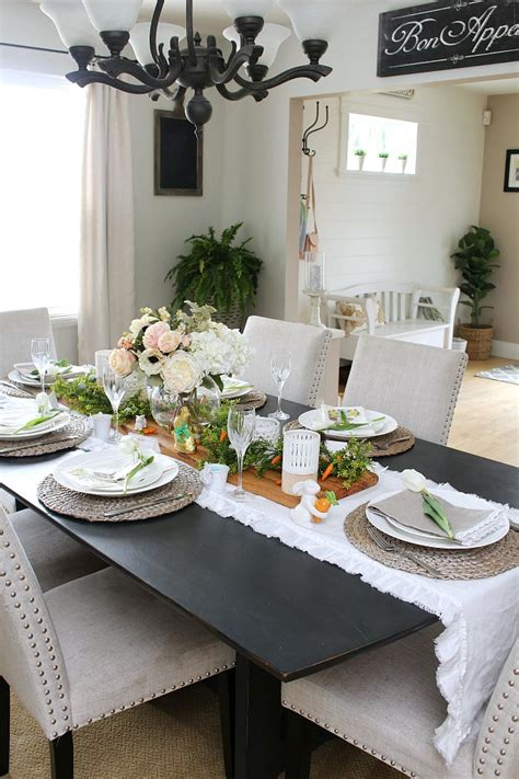 Dining Room Tablescapes Ideas Easter Dining Room And Easter Tablescape Decorating Ideas