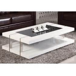 table basse design laqu 233 blanc verre tremp 233 achat