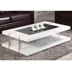 table basse design laqu 233 blanc verre tremp 233 achat