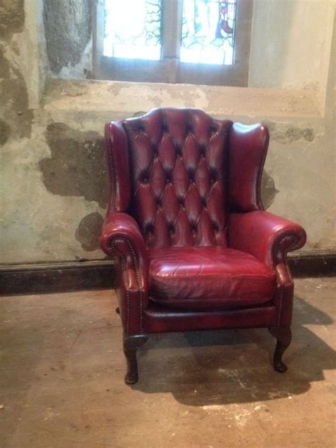 vintage leather armchair ebay vintage chesterfield armchair queen anne high back