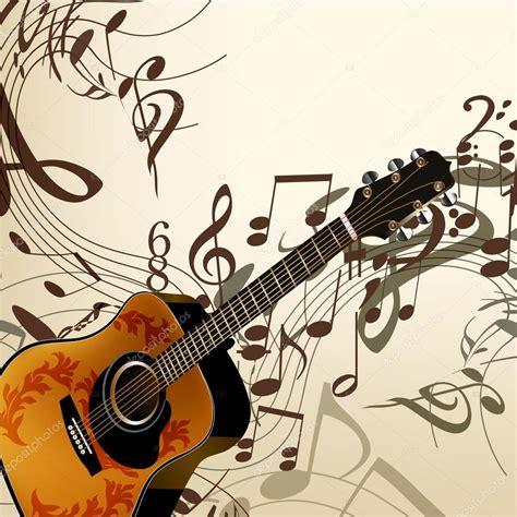 imagenes de guitarra sin fondo fondo de vector de m 250 sica con guitarra y notas archivo