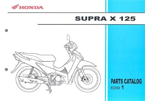 Sparepart Honda Supra X 100 xmal motor bengkel sepeda motor katalog suku cadang
