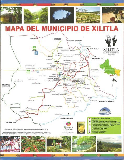 tourist map of mexico xilitla mexico tourist map xilitla mexico mappery