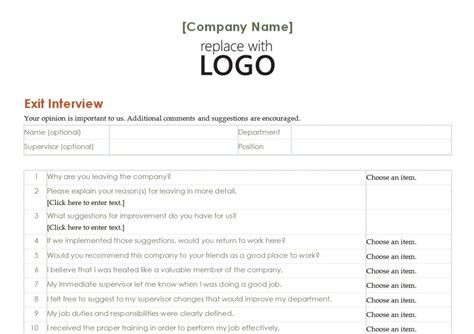free employee exit template employee exit template employee exit