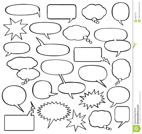 printable bubble quotes blank comic strip speech bubbles template school