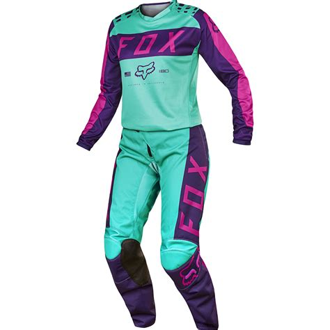 purple motocross gear fox 2017 mx 180 purple pink seafoam jersey