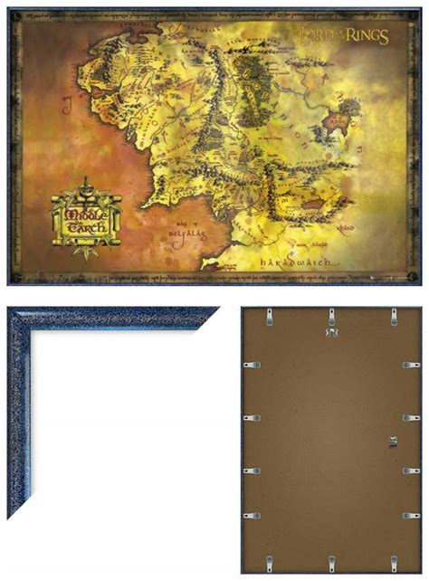 map of middle earth print the lord of the rings framed poster print classic