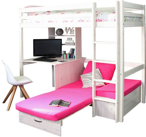 Thuka Hit High Sleeper by Hit 7 High Sleeper Bed With Pink Chair Bed