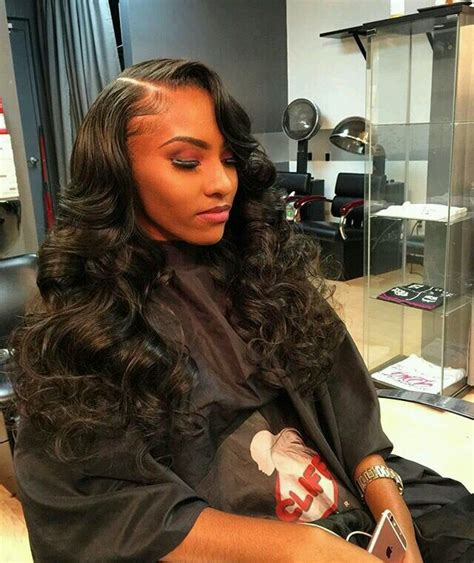 hairweaves with bangs that can be pinned up side part sew in cliff vmir hair work pinterest