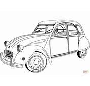 Dibujo De Citro&235n 2 CV Para Colorear  Dibujos
