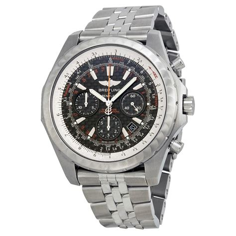 breitling bentley motors t black stainless steel