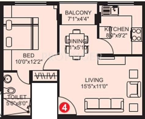 610 sq ft 1 bhk floor plan image gaj avenue available 610 sq ft 1 bhk 1t apartment for sale in plama citius