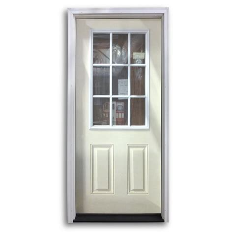 Pre Hung Exterior Door Pre Hung 9 Lite Fiberglass Exterior Door Primed White Home Surplus