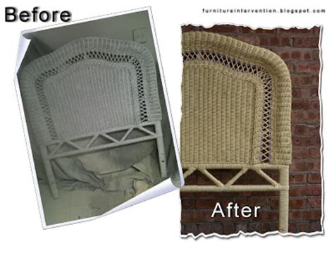 furniture before and afters painted and glazed wicker headboard recipe