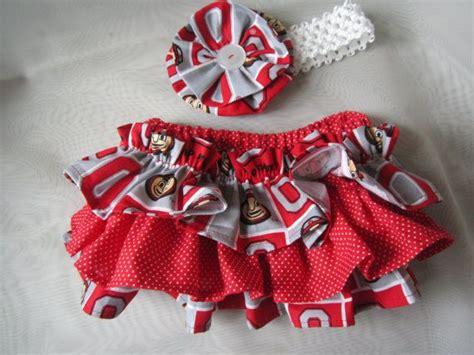 osu colors osu colors ruffle bloomers with matching headband set