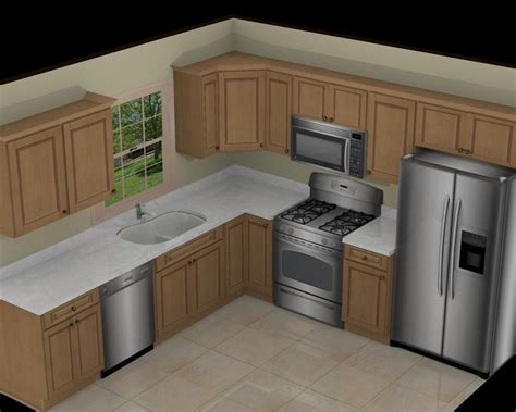 L Shape by Foundation Dezin Decor 3d Kitchen Model Design