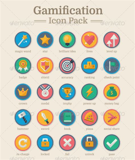 Icon Graphicriver Gamification Icon Pack 8548288 187 Dondrup Com Gamification Website Templates