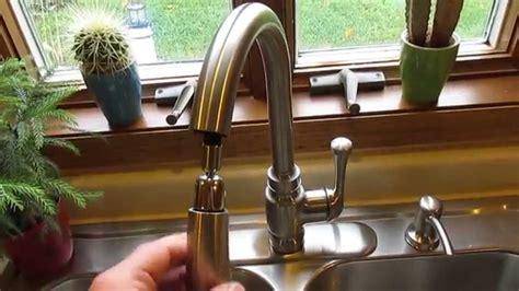 Pull Out Sprayer Kitchen Faucet kohler carmichael single handle pull down sprayer kitchen