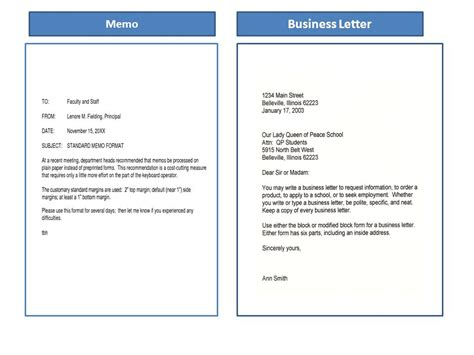 difference between business letter and memo letter similarities between business letter and memorandum 28