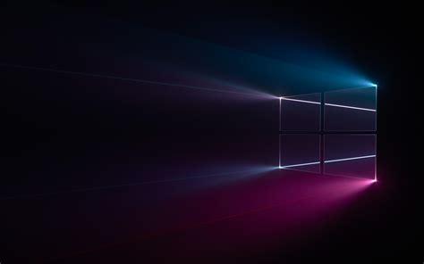 wallpaper windows  windows logo blue pink dark hd