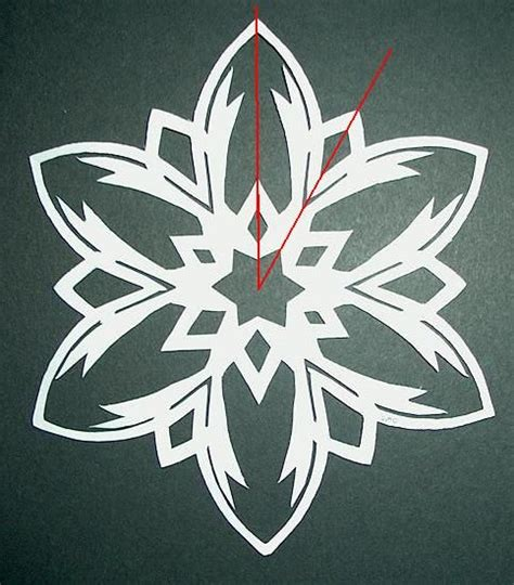 How To Make A 6 Pointed Paper Snowflake - 6 pointed paper snowflakes make it your library