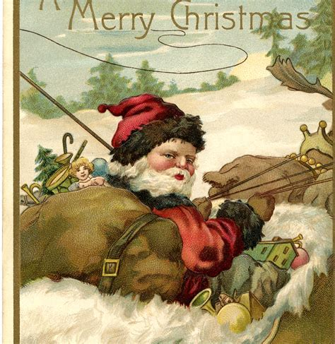 10 Santa Sleigh Images and More!   The Graphics Fairy