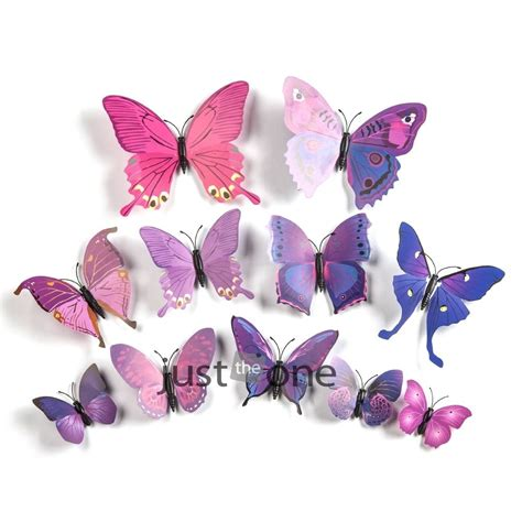 12pcs 3d butterfly wall stickers 3d butterfly wall stickers decal 12pcs butterflies