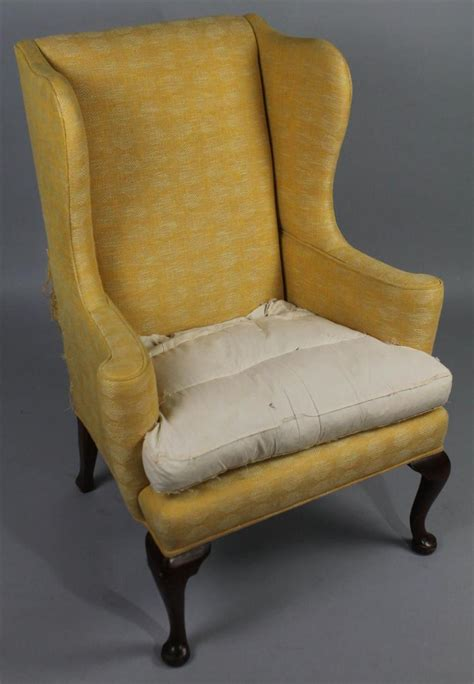 chintz armchair queen anne style wing chair with chinoiserie chintz slip cov