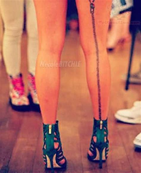 back zip tattoo zipper tattoo on back leg