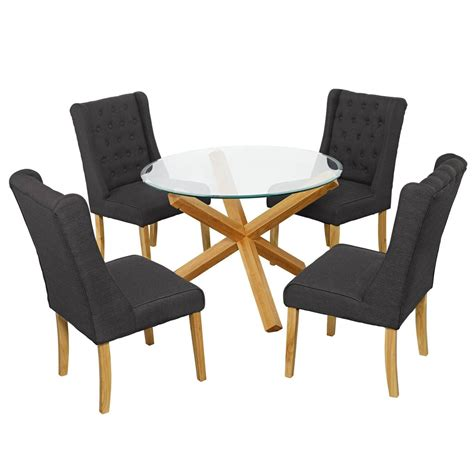 glass table with 4 chairs grange glass dining table and 4 verona chairs fads