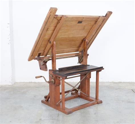 vintage wooden drafting table impressive industrial wooden drafting table vintage