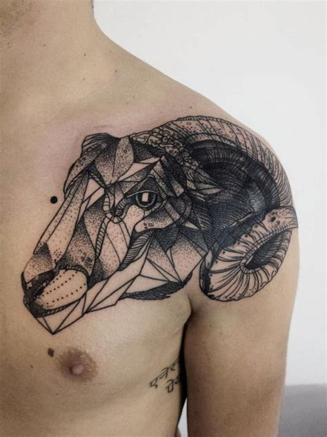 geometric goat tattoo geometric goat tattoo by michele zingales tattoomagz