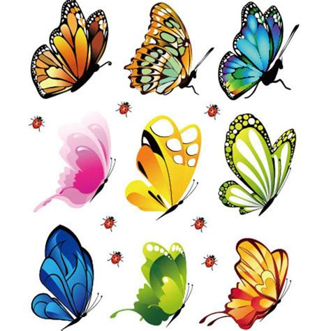 printable butterfly stickers prevalent new creative landscaping decoration heart shaped
