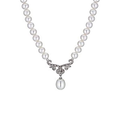 Oasis Has Pear Pendants Like Marc By Marc by 9ct White Gold Cultured Freshwater Pearl
