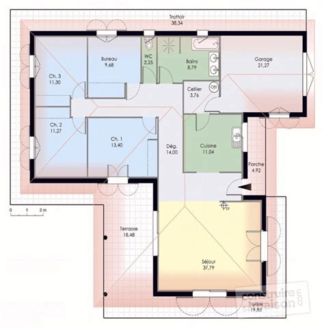 Maison En T Plain Pied by Maison De Plain Pied 1 D 233 Du Plan De Maison De Plain