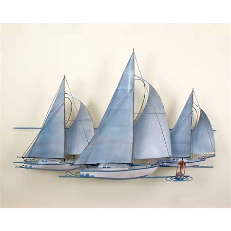 sailing boat metal wall art metal sailing ship wall art s wall decal