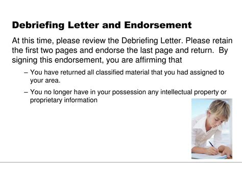 Endorsement Letter Ppt Ppt Security Debriefing Powerpoint Presentation Id 242116