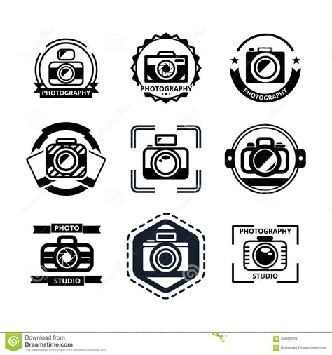 photographer vector vintage photography badges or logos stock vector image 56099509