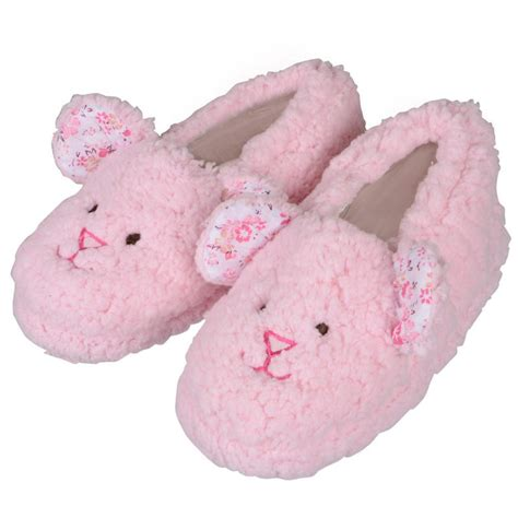 house shoes for girls girls soft fleece lamb design slippers with rubber soles pink