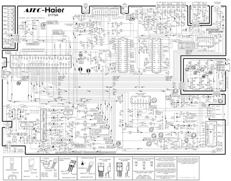 circuit diagrams for atec haier 21 inch color tv 21t5a crt tv circuit