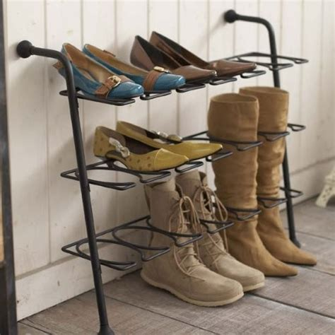 Other Uses For Metal Shoe Rack | eiffel 3 tier black metal shoe rack for various types of